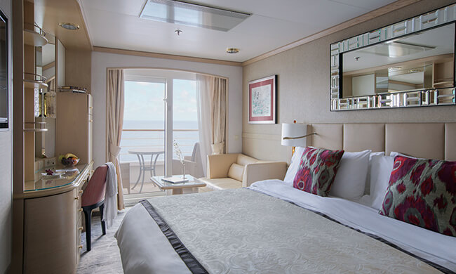 spacious stateroom - aboard accommodations - crystal cruises